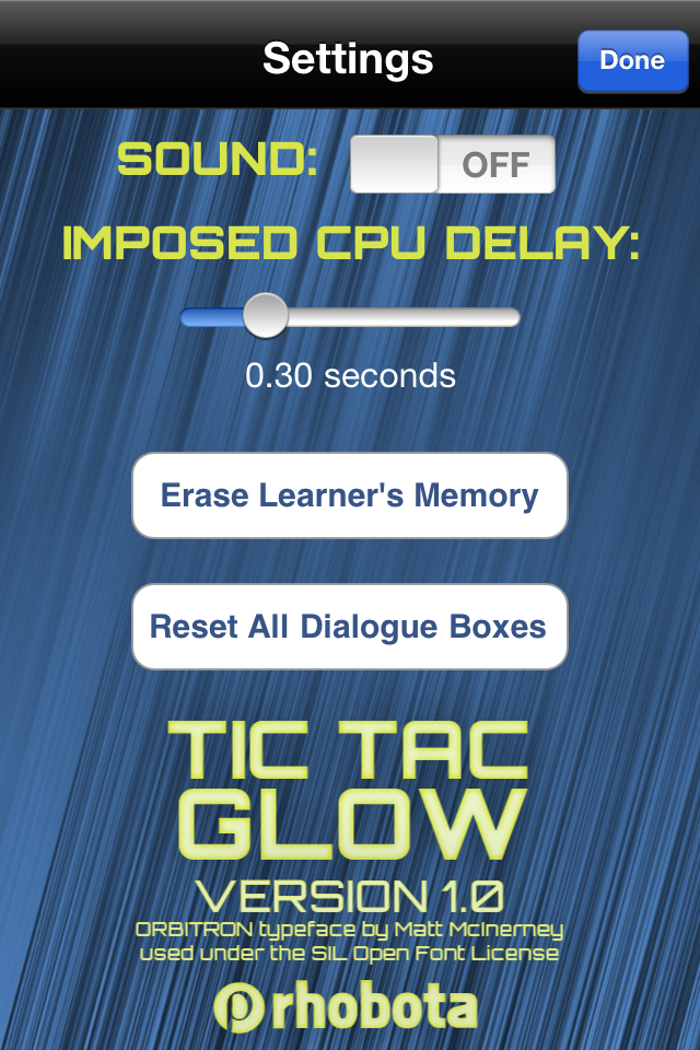 Screenshot Tic Tac Glow – with AI